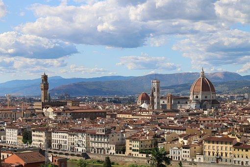 Florence, Skyline, Sunny, Renaissance, Medieval