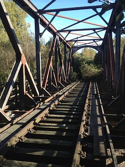 Railway Line, Bridge, Shut Down, Abandoned, Rusty, Old
