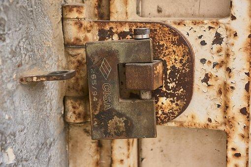 Iron, Oxide, Padlock, Rust, Texture, Metal, Rusty
