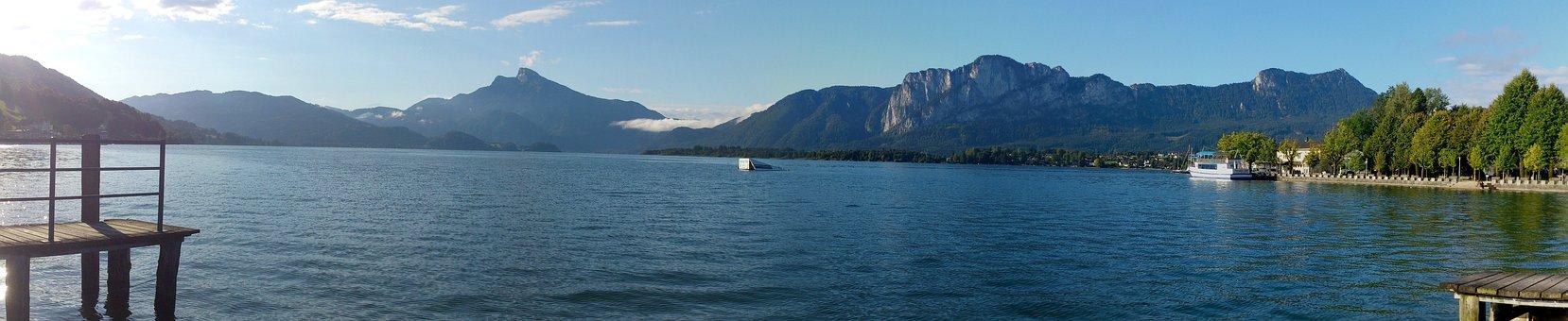 Monsee, Upper Austria, Austria, Lake, Salzkammergut