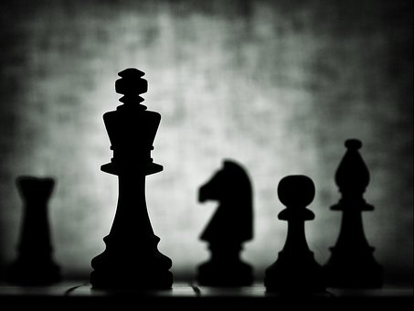 Chess, Still Life, Silhouette, Checkerboard, King, Pawn