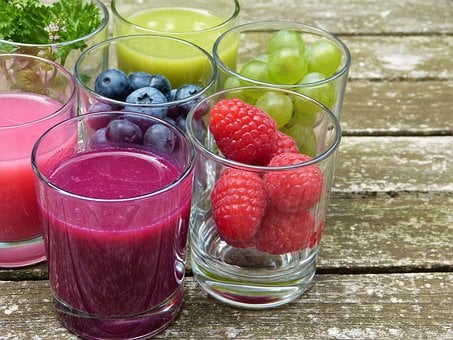 Fruit, Fruits, Juice, Smoothie, Vitamins, Berries, Food
