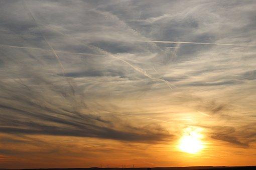 Sunset, Nature, Sky, Evening, Clouds, Sunlight, Color