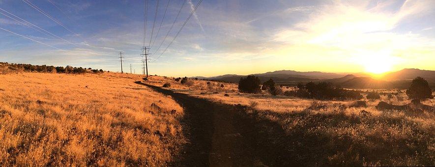 Sunset, Panorama, Sky, Landscape, Nature, Twilight
