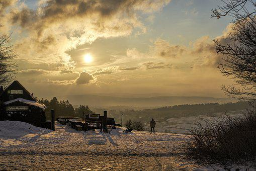 Winter, Winter Sun, Winter Mood, Vogelsberg Mountains