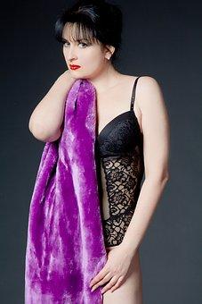 Woman, Provoking, Blanket, Model
