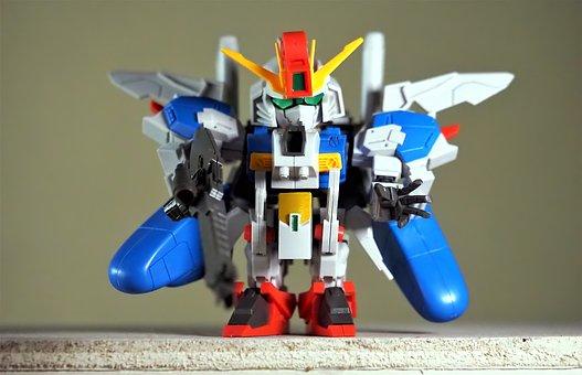 Small, Cute, Robot, Bandai, Model, Kit, Chibi, Gundam