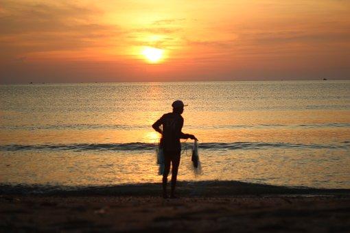 Sunrise, Tourism, Beach, Nature, The Landscape, Travel