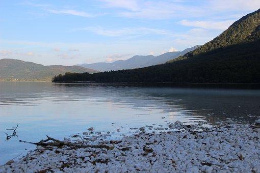 Bergsee, Alpine, Lake, Mirroring, Nature, Summer