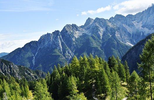 Mountains, Julian Alps, Blue Mountains, Slovenia