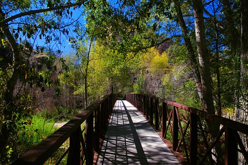 Gila Trail Foot Bridge, Footbridge, Bridge, Trail