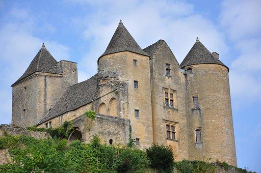 Castle, Monument, Dordogne, Tourism, City, Fortress