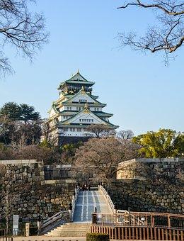 Castle, Landmark, Architecture, History, Osaka, Japan