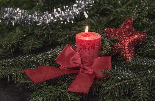 Christmas, Candle, Candle Light, Red, Candlelight