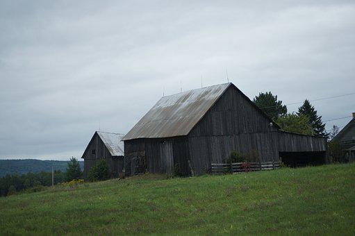 Barn, Field, Countryside, Farm, Nature, Country