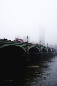 Architecture, Bridge, Buildings, Bus, Daylight, Fog