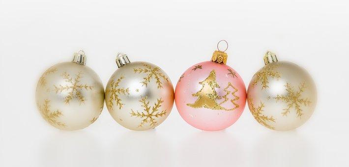 Christmas, Christmas Tree Balls, Four, Decoration, Ball