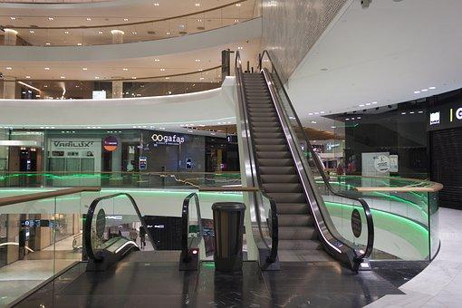 Escalator, Shopping Center, Department Store