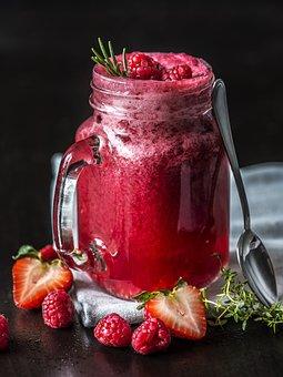 Berry, Beverage, Black Background, Closeup, Cold, Drink