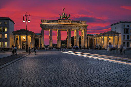 Berlin, Brandenburg Gate, Evening, Mood, Landmark