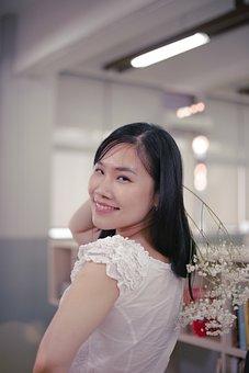 Asian, Female, Portrait, Fashion, Happy, Smiling