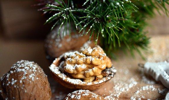 Walnut, Nut, Christmas Motif, Christmas, Fruit Bowl