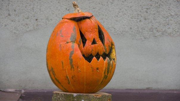 Halloween, Pumpkin, Scary, Creepy, A Smile