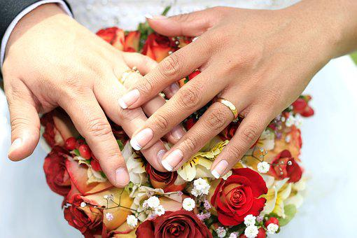 Hands, Wedding, Love, Flowers, Marriage