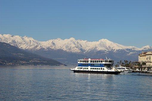 Lake, Ferry, Como, Water, Nature, Landscape, Tourism