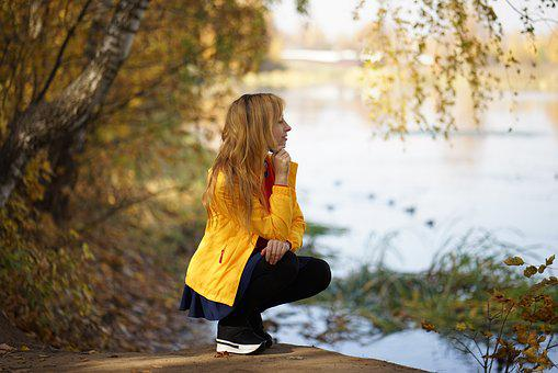 Looking Into The Distance, River, Lake, Autumn, Nature