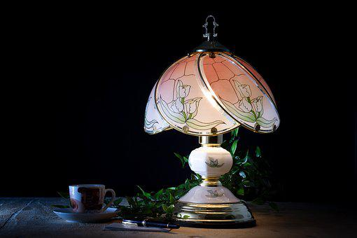 Table Lamp, Mixed Light, Coffee, Workplace