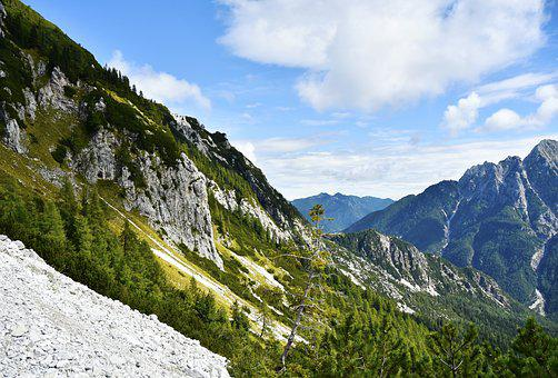 Mountains, Julian Alps, Slovenia, Panorama, Hiking