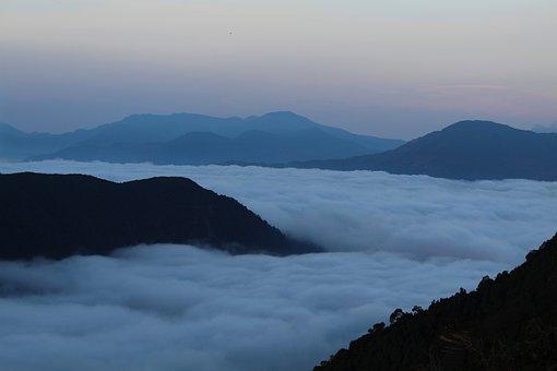 Selva Marine, Clouds, Mountains, Nepal, Nature