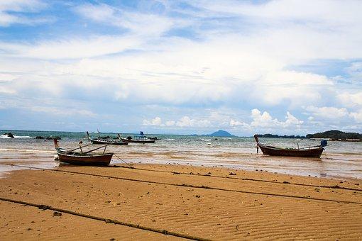 Ship, Boat, Island, Fisher, Sea, Ocean, Water, Horizon