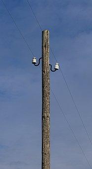 Telephone Pole, Telegraph Pole, Overhead Line, Mast