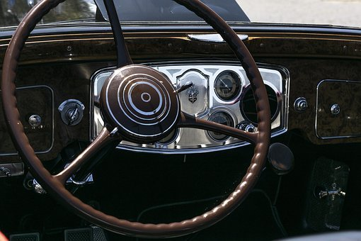 Packard 8, Convertible, 1930th, Retro, Dashboard