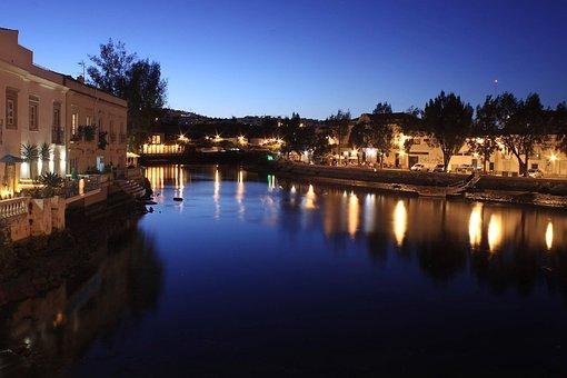 Tavira, Portugal, Algarve, Landscape, Vista, Panorama