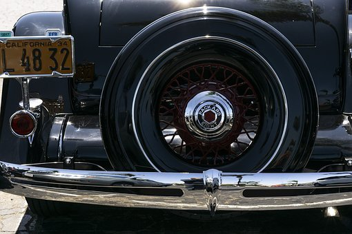 Packard 8, Convertible, 1930th, Retro, Details, Classic