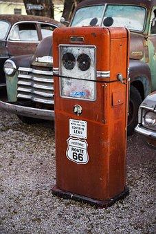 Route66, Gas Pump, Retro