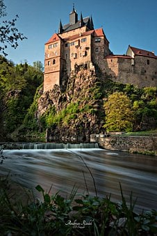 Castle Kriebstein, River, Long Exposure, Middle Ages