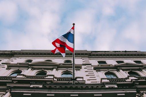 Flag, Thai, Sky, The Flag, Thailand, Architecture