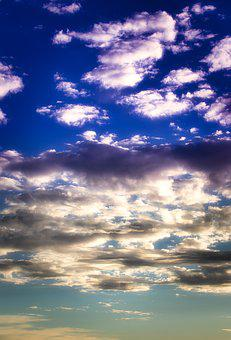 Clouds, Sky, Mood, Evening, Blue, Background