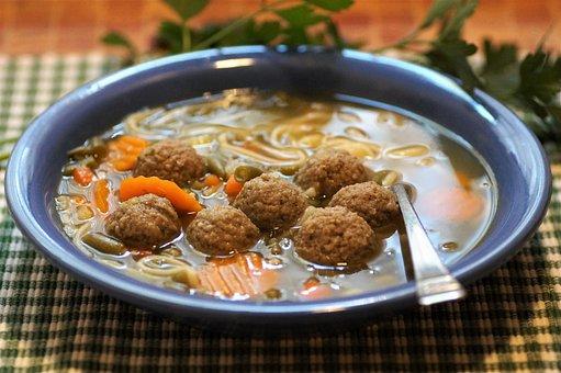 Knedlíčková, Soup, Liver, Dumplings, Traditional, Czech