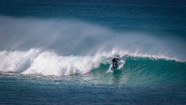 Wave, Surf, Surfing, Water, Sea, Ocean, Nature, Beach