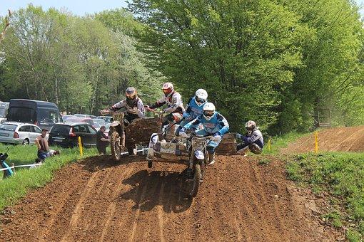 Motocross, Team, Motorcycle, Terrain, Sidecar, Cross