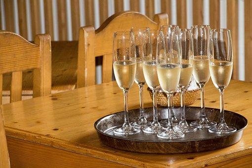 Champagne, Celebration, Alcohol, Toast, Glass, Bubbles
