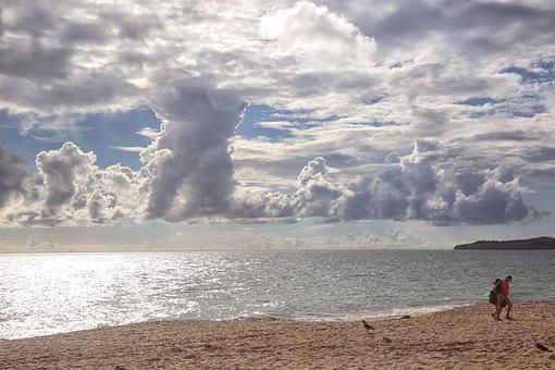 Landscape, Sea, Sand, Travel, Ocean, Nature, Blue