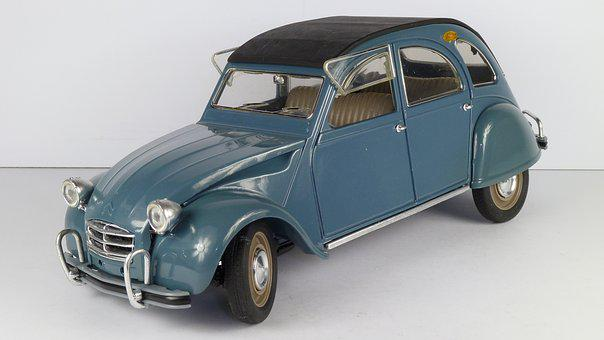 Citroen, 2cv, 1966, Ente, 1x18, Model Car, Solido