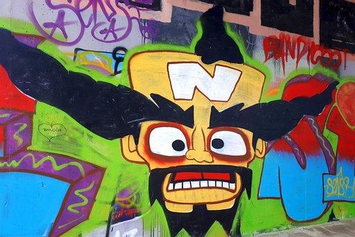 Vienna, Graffiti, Colorful, Bridge, Painting, Art