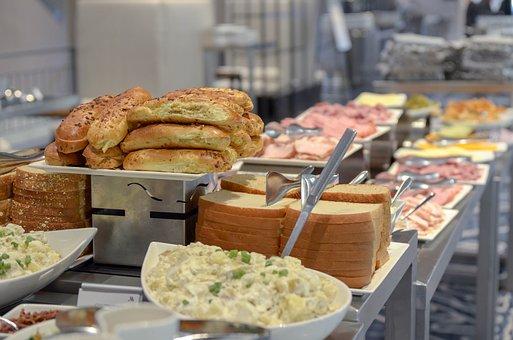 Noodles, Bread, Plate, Platter, Serving, Catering, Bar